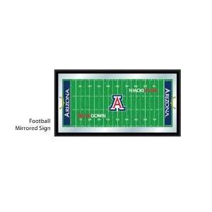 University of Arizona Wildcats NCAA Football Mirrored Sign