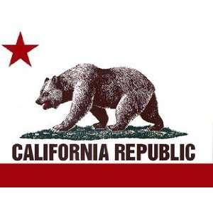 California State Flag California Republic Bear Flag Bumper