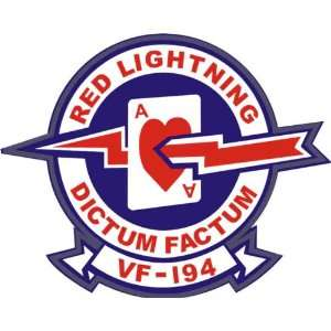 US Navy VF 194 Red Lightnings Squadron Decal Sticker 5.5