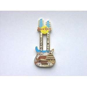 Rock Cafe Pin 22958 2004 Beijing Double Neck Guitar