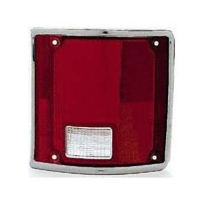 73 91 GMC JIMMY TAIL LIGHT LENS RH (PASSENGER SIDE) SUV, With Chrome