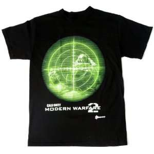 Call of Duty Scope Modern Warfare 2 Black Mens T shirt