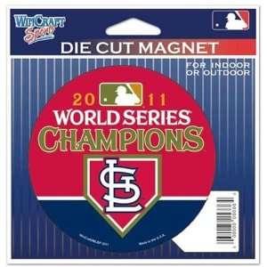 St. Louis Cardinals 2011 World Series Championship Die Cut Magnet