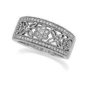 14k White Gold Diamond Anniversary Band Ring Everything