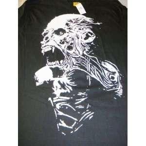 Screaming Skull Reaper Long Sleeve Cotton Black T Shirt Tee Shirt 3XL