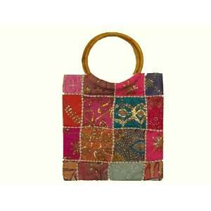 Handbag Baby Bag Tote Handmade Bead Work Yellow Blue Pink Laptop Case