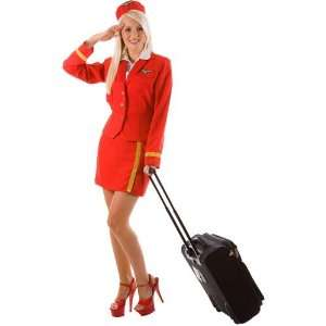 Fantasy Costumes Atlantic Air Hostess Fancy Dress Costumes
