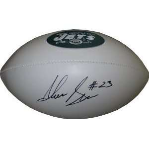 Greene Autographed New York Jets Team Logo Football