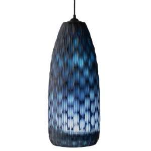 Lazy Susan Blue Ripple Cut Glass Hanging Lamp Home