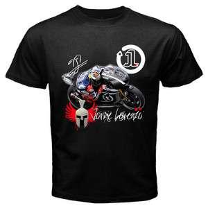 JORGE LORENZO Yamaha Racing MotoGP Black T Shirt S 2XL