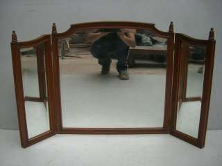 Great antique French walnut vanity mirror # as/1427