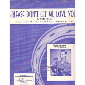Love You  Sheet Music 1949  George Morgan on Cover Ralph Jones Books
