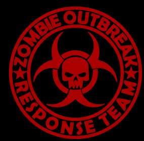Zombie Outbreak Response Team LARGE Vinyl Sticker Decal