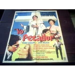 Original Mexican Movie Poster Yo Pecador Pedro Geraldo