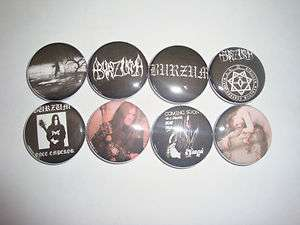 BURZUM buttons pins badges black metal mayhem varg vike