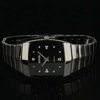 Stainless Steel Black Fashion Style Man Mens Analog Quartz Watch