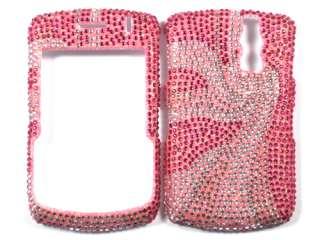 BLING DIAMOND HARD SKIN CASE COVER for BLACKBERRY CURVE 8330 PINK 1