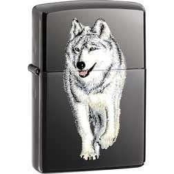 ZIPPO LIGHTER WOLF BLACK ICE CIGARETTE LIGHTER ZO10107