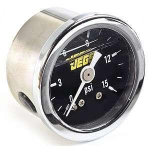 JEGS Performance Products 41010 Fuel Pressure Gauge (Black