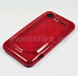SOFT GEL TPU CASE COVER HTC INCREDIBLE S 2 G11 RED