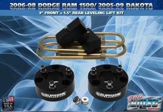 2006 2008 Dodge Ram 1500 / Dakota 3 + 1.5 Lift Leveling Kit PRO