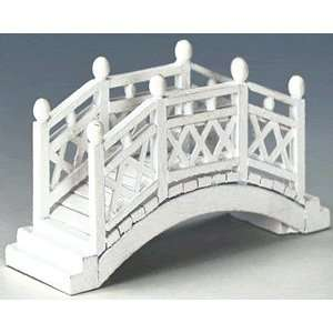 Christmas Village Collection White Foot Bridge #44130