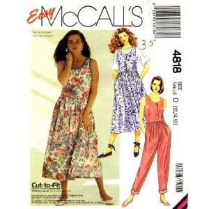 McCalls 4818 Sewing Pattern Misses Jumpsuit Sundress Romper Size 12