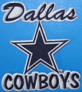 DALLAS COWBOYS STAR WRITTEN LOGO PATCH NFL FOOTBALL