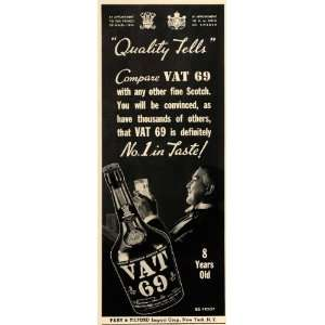 1940 Ad Vat 69 Alcohol Tilford Beverage Drink Scotch