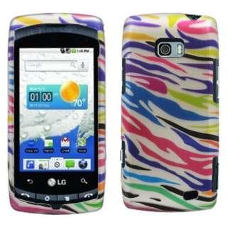 LG Ally VS740 Colorful Zebra hard case snap on cover