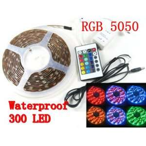 5M US shipping Waterproof RGB 300 LEDS 5050 SMD LED Strip