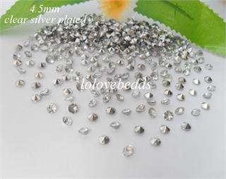 1000x 1/3CT Acrylic Diamond Confetti Wedding Party Decoration Crystal