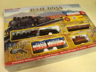 RAIL BOSS Complete Ready to Run HO Scale TRAIN SET   NEW!