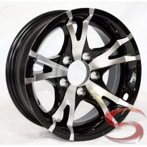 Black Machined Aluminum Trailer Wheel 5x4.5 0 Bolt Pattern Automotive