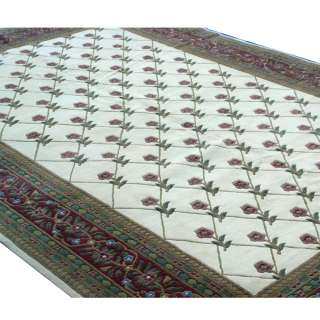 12ft x 18ft Hand Woven French Country Floral Area Rug