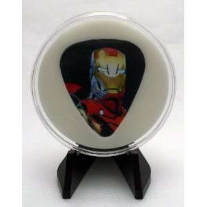 Marvel Universe Hero Iron Man Guitar Pick With Display Case & Easel