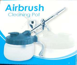 Pro Airbrush Cleaner Air Brush Clean Pot Jar Cleaning Station Bottles