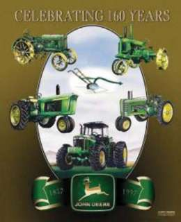 Metal Sign Farm Tractor John Deere 160th Anniversary N