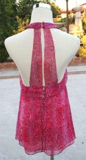 NWT BCBG MAX AZRIA $138 Azaeleacom Silk Halter Top S