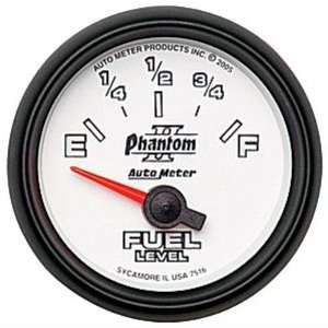 Auto Meter 7516 Phantom II Short Sweep Electric Fuel Level