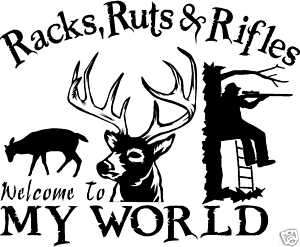 DEER HUNTING DECAL Deer,Elk,Buck,Doe, Fishing 1783