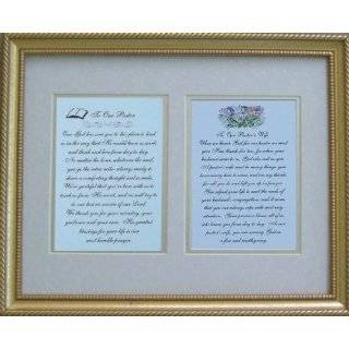 Pastor and Pastors Wife Quality Framed Gift Poems by Elegantwriting