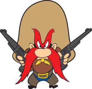 YOSEMITE SAM DIE CUT DECAL LARGE SIZE