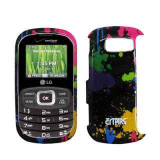for Lg Octane Paint Splatter Case+LCD Screen Protector+Car Charger