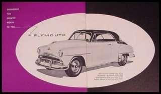 1952 Chrysler Plymouth Dodge DeSoto Color Brochure Xlnt