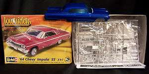 25 Scale 1964 64 Chevrolet Chevy Impala Model Kit Candy Apple Blue