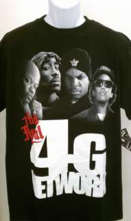 REAL 4G NETWORK T SHIRT MED 3X TOO SHORT 2PAC ICE CUBE EAZY E