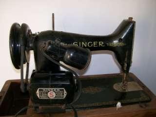 Singer Model 99K Sewing Machine # EF 24610 Black Head 1949 Year