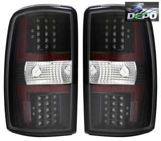 00 06 Chevrolet Suburban Tahoe Yukon LED Tail Lights Black DEPO Pair