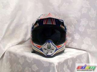 NEW YAMAHA BLUE ATV DIRT BIKE QUAD MOTOCROSS HELMET Xl
